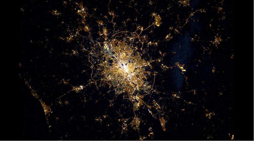 London from the International Space Station [credit: Sam Cristoforetti]