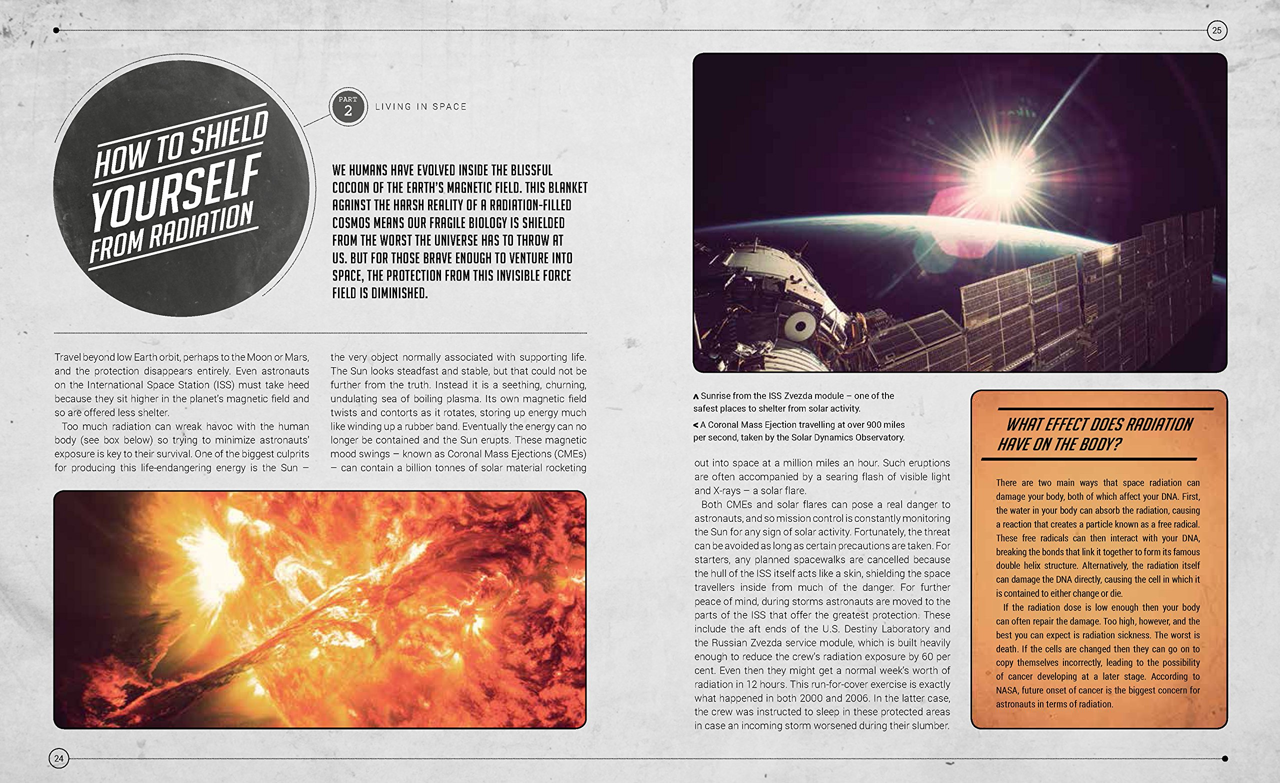 A sample page from How to Live in Space by Colin Stuart