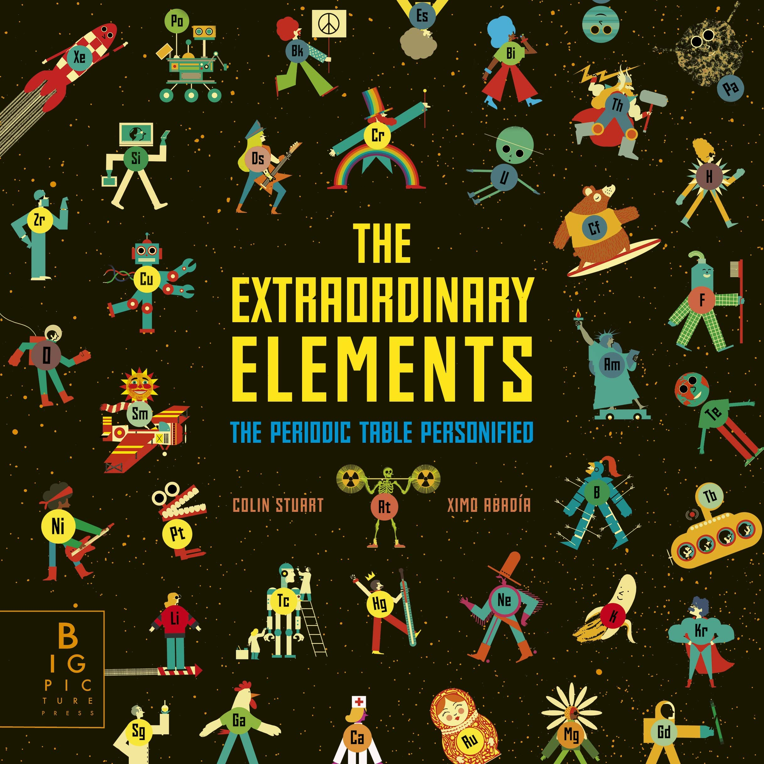 The front cover of The Extraordinary Elements by Colin Stuart