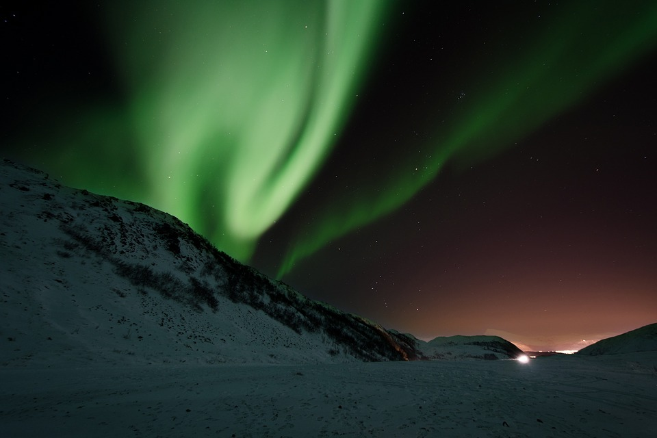 The aurora borealis or northern lights
