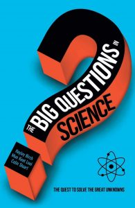 The front cover of The Big Questions in Science by Colin Stuart - signed copies available
